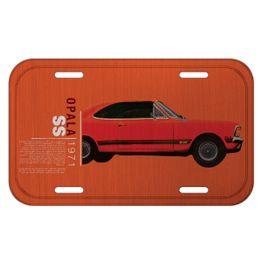 41398_Placa-de-Parede-Aluminio-Opala-1971-Laranja