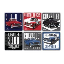 41844_Conjunto-com-6-Porta-Copos-Cortica-3100-Chevy-Trucks-Pick-Up