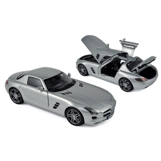 NOR183490_Miniatura-de-Carro-2010-SLS-AMG-Mercedes-Benz-Cinza
