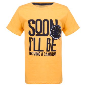 11447_Camiseta-Infantil-Soon-I-ll-Be-Driving-A-Camaro-Amarela