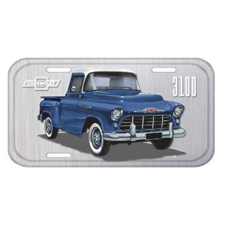 42368_Placa-de-Carro-Aluminio-3100-Authentic-Pick-Up-Cinza