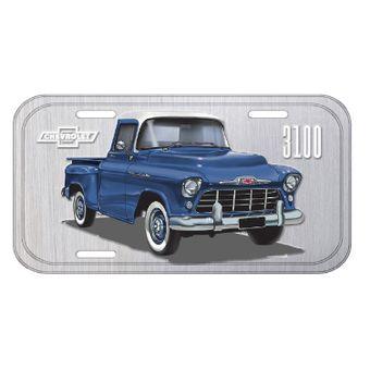 42368_Placa-de-Carro-Aluminio-3100-Authentic-Pick-Up-Cinza
