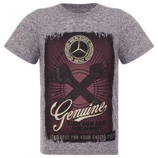 40508_Camiseta-Genuine-Infantil-Mercedes-Benz-TR-Cinza-mescla-escuro