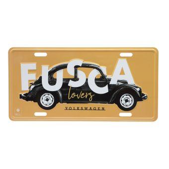 13118_Placa-Carro-Aluminio-Lover-FD-Fusca-Volkswagen-Amarelo