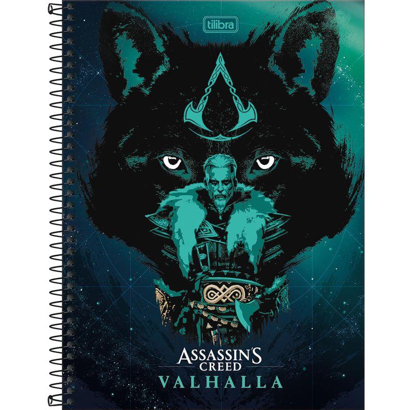 307971-2_Caderno-Wolf-Universitario-1-Materia-80-Folhas-Assassins-Creed-Ubisoft