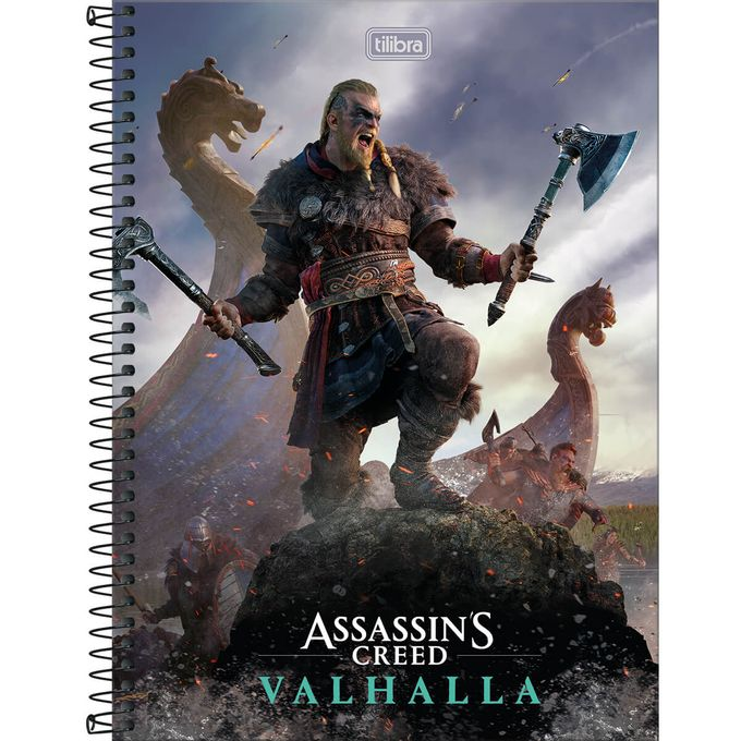 307980-4_Caderno-Nordic-Universitario-10-Materias-160-Folhas-Assassins-Creed-Ubisoft