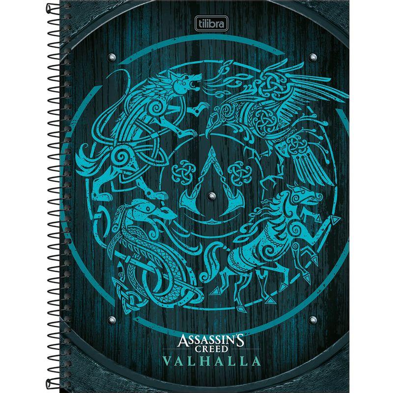 307980-3_Caderno-Shield-Universitario-10-Materias-160-Folhas-Assassins-Creed-Ubisoft