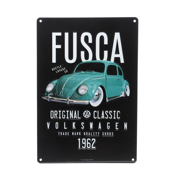 13120_Placa-de-Parede-em-Metal-Recorte-Origil-Classic-Fusca-Volkswagen-PretoVerde