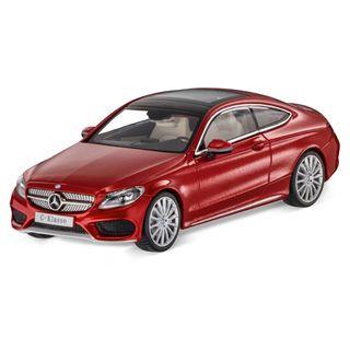 B66960531_Miniatura-de-carro-Classe-C-Coupe-vermelho-1-43-Unissex-Mercedes-Benz