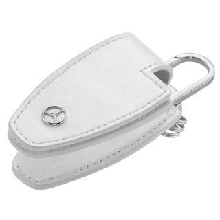 B66958141_Porta-chave-Couro-Mercedes-Benz-Branco