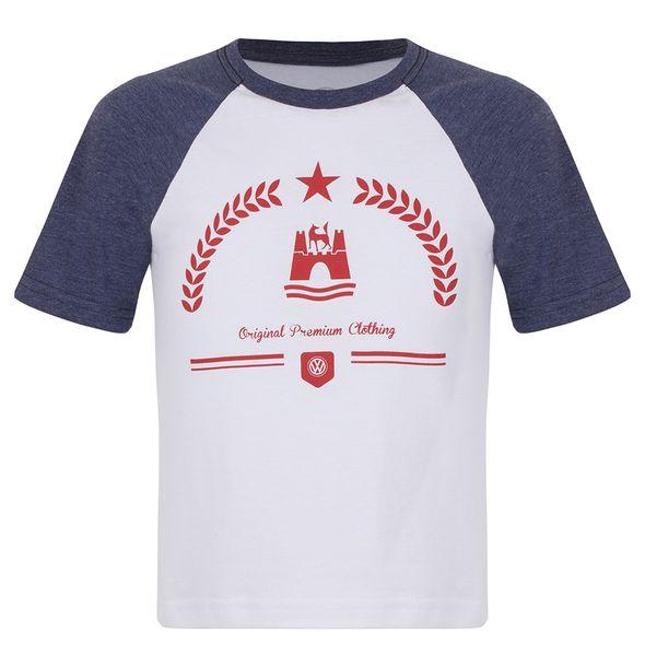 12792_Camiseta-Raglan-Volkswagen-Classic-Infantil-Branco-Azul-Mescla