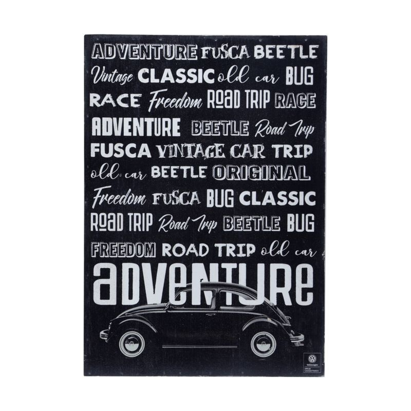 13102_Placa-de-Parede-em-Madeira-Adventure-Fusca-Volkswagen-Preto