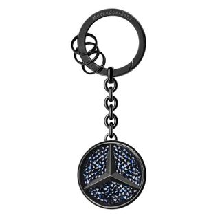 B66953288_Chaveiro-Preta-azul-com-Cristais-Swarovski-Unissex-Mercedes-Benz