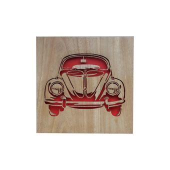 13145_Placa-de-Parede-em-Madeira-Laser-Fusca-Volkswagen-Vermelho