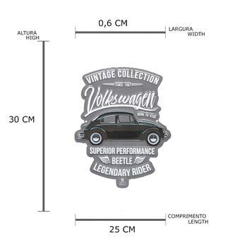 13101_2_Placa-de-Parede-em-Metal-Recorte-Vintage-Fusca-Volkswagen-Prata