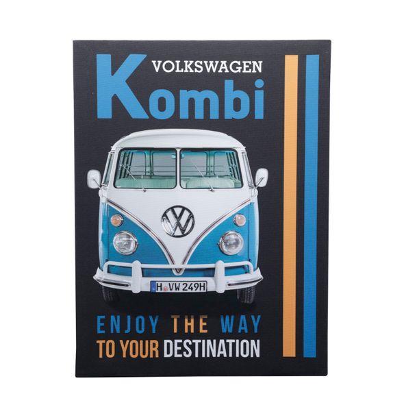 13161_Quadro-em-Tela-Enjoy-The-Way-Fd-30x40-Cm-Kombi-Volkswagen-Preto