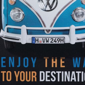 13161_2_Quadro-em-Tela-Enjoy-The-Way-Fd-30x40-Cm-Kombi-Volkswagen-Preto