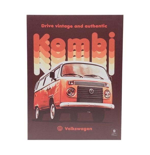 13160_Quadro-em-Tela-Vintage-And-Authentic-30x40-Cm-Kombi-Volkswagen-Vermelho