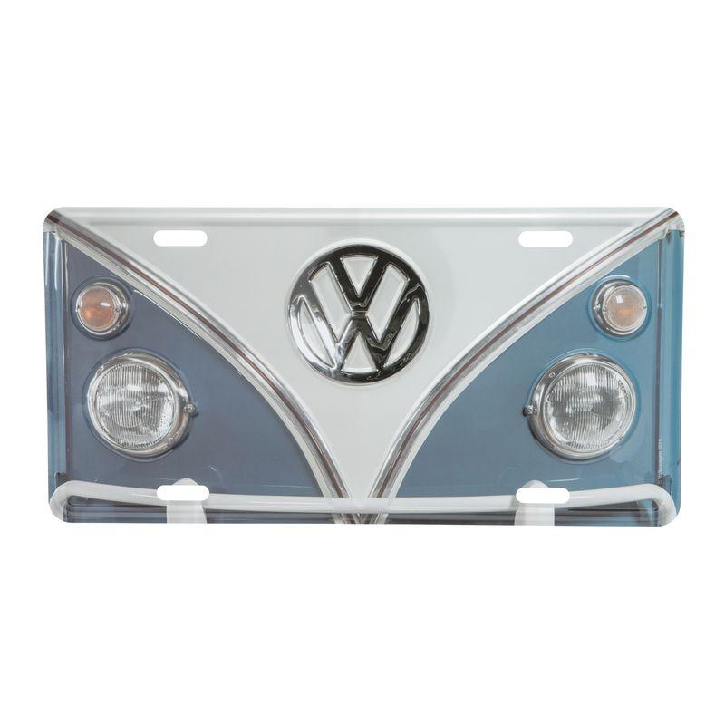 13158_Placa-Carro-Aluminio-15x30-Cm-C-Kombi-Volkswagen-Azul--Branco