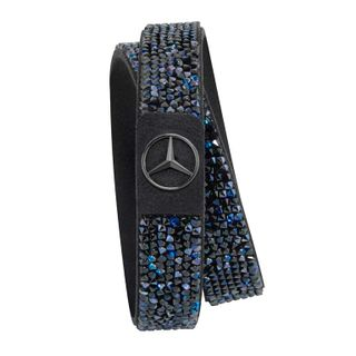 B66953279_Pulseira-Preta-azul-com-Cristais-Feminina-Mercedes-Benz
