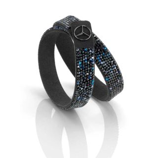 B66953279_2_Pulseira-Preta-azul-com-Cristais-Feminina-Mercedes-Benz