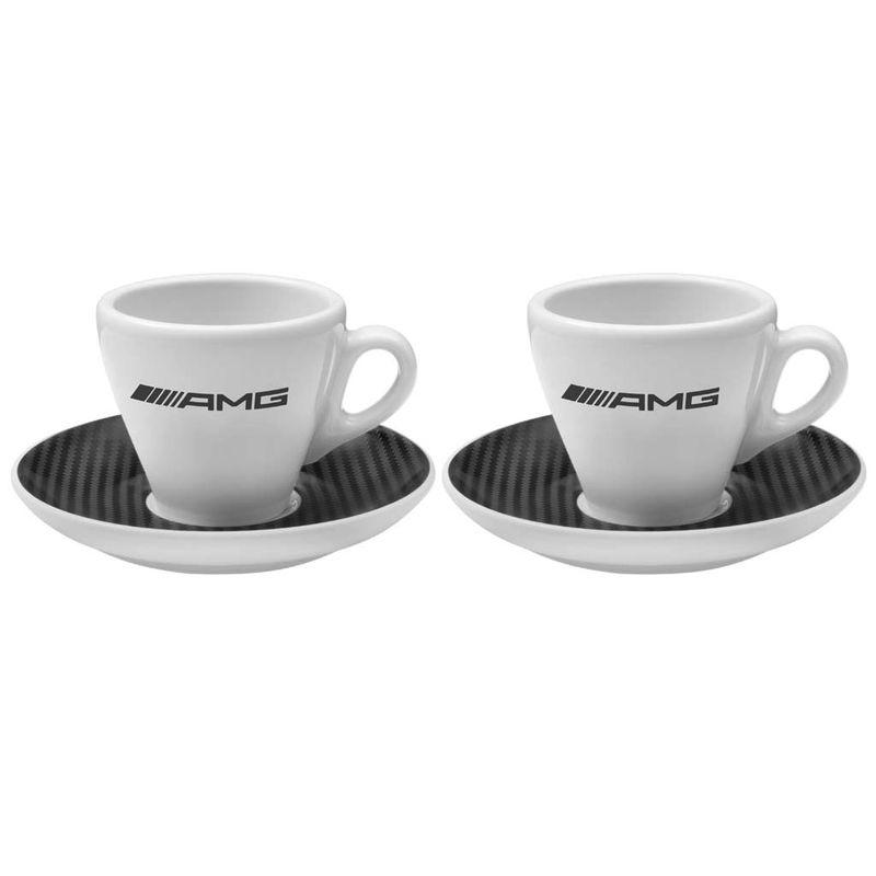 B66952750_Conjunto-2-Xicaras-AMG-em-porcelana-com-efeito-fibra-de-carbono-Mercedes-Benz-Branco