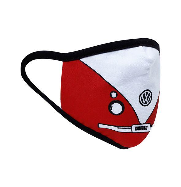 81066_2_Mascara-de-Protecao-60-Vintage-Kit-5-Pecas-Unissex-Kombi-Volkswagen-Vermelho