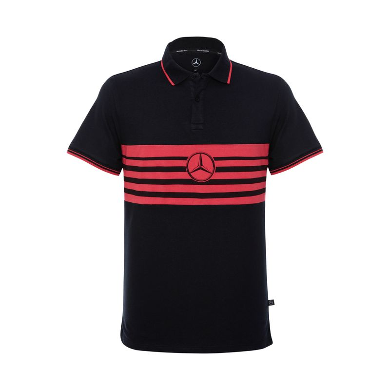 40880-100_Camisa-Polo-Grid-Stripes-Masculina-Mercedes-Benz-Preto